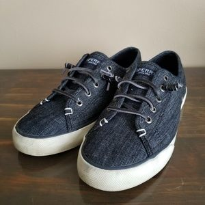 Sperry Lace-Up Sneakers Blue Size 8.5